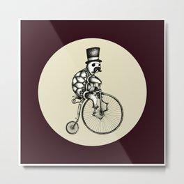 The Slow Bike Race Metal Print