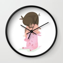 Little pigs Wall Clock