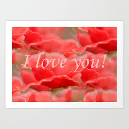 Love You! Red Poppies #decor #society6 Art Print