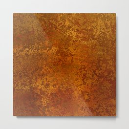 Vintage Copper Rust, Minimalist Art Metal Print