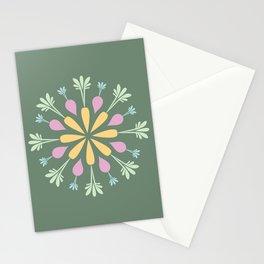Vegetable Mandala Stationery Cards