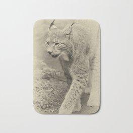 beautiful lynx Bath Mat