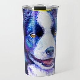 Watchful Eye -  Border Collie Dog Travel Mug