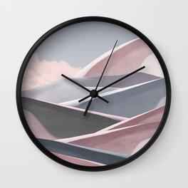 Chiffon Dunes Wall Clock