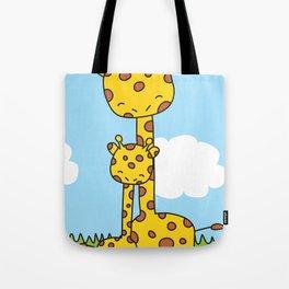 Giraffe Hugs Tote Bag