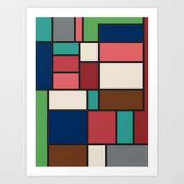 The Colors of / Mondrian Series - Spirited Away - Miyazaki Art Print