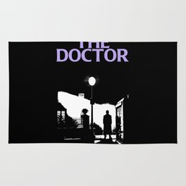 The Exorcist movie poster parody of Doctor Who 10th Rug