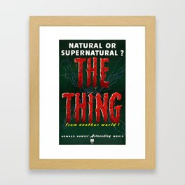 The Thing, Vintage Horror Movie Poster Framed Art Print
