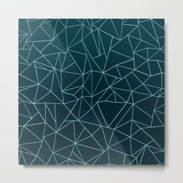 Ombre Ab Teal Metal Print