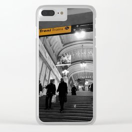 Milano Station Black and White Photography Clear iPhone Case