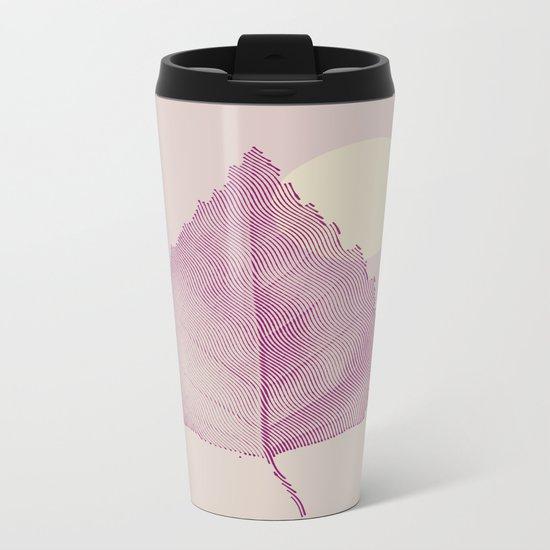 Delicate Leave Metal Travel Mug