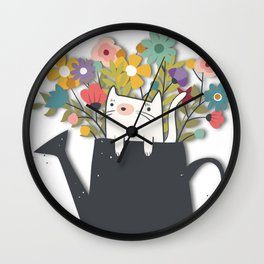 The Cat Is Back Wall Clock