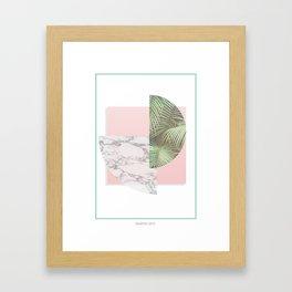 MARBLE FREEDOM Framed Art Print