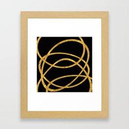 Golden Arcs - Abstract Framed Art Print