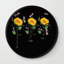 Kansas City Leavenworth City Sunflower hope love Gifts For Men Women Wall Clock