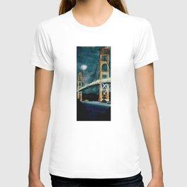 Golden Gate Bridge at Night T-shirt