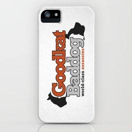Goodkat & Baddog. iPhone Case