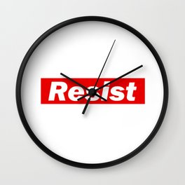 Resist Supr Wall Clock