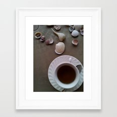 Tea Shells Framed Art Print