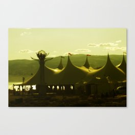 An Amusement Park  Canvas Print