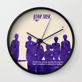 Star Trek 46th Anniversary - James T. Kirk quote Wall Clock
