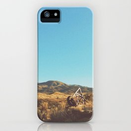 UFO in a California Desert with abandoned objects iPhone Case