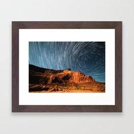 Stars on the Cliffside Framed Art Print