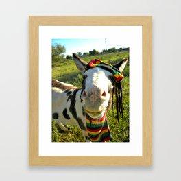 Rasta Donkey Framed Art Print