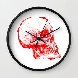 RED INK SKULL Wall Clock