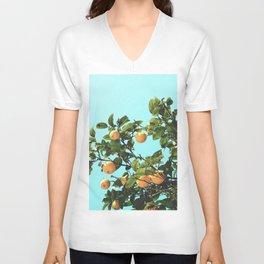 Summer Orange Tree Unisex V-Neck