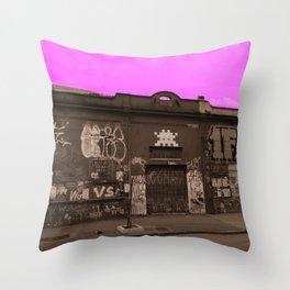 Pink Sky series: sepia Throw Pillow