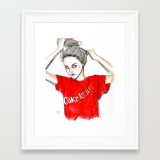 coke is it / sky  f Framed Art Print