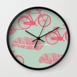 Feather Bike Wall Clock
