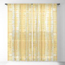 Shibori Itajime Table Yellow Sheer Curtain