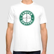 Camper Spotted MEDIUM Mens Fitted Tee White