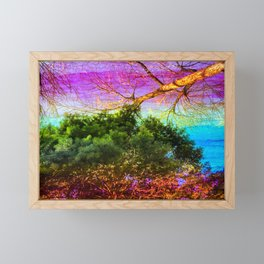 Meeting of the Tree Tops Framed Mini Art Print