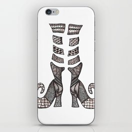 Tangled Witchy Boots iPhone Skin