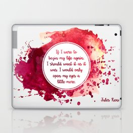 Jules Renard's quote Laptop & iPad Skin