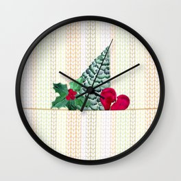 Knitted Christmas pattern.1 Wall Clock