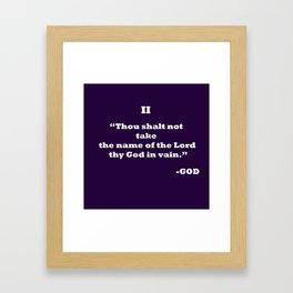 Ten Commandments.......II Framed Art Print