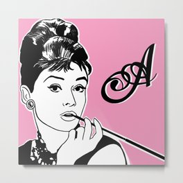 A is for Audrey Metal Print