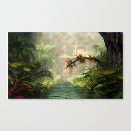 Lost City in the jungle Canvas Print