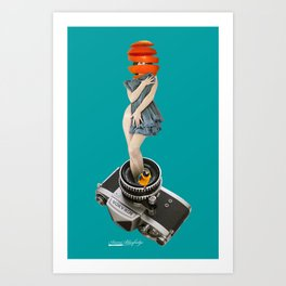 photographing every delicious moments Art Print