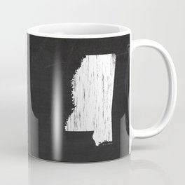 Mississippi State Map Chalk Drawing Coffee Mug
