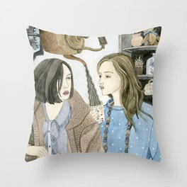 Just Between Us Girls Throw Pillow