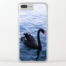Lone Swan Clear iPhone Case
