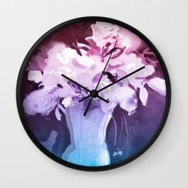 Dewy Flowers Wall Clock