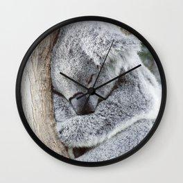 Sleeping Koala Wall Clock