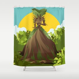 earth nature creature elemental Shower Curtain