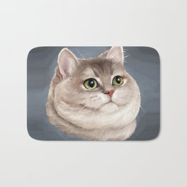 Heavy Breathing Cat--Fine Art Edition Bath Mat
